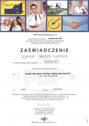 zespol-endo-perio-certyfkiat-szkolenia-dentysta-opole-joanna-gronek